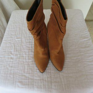ALDO  RUST BROWN ANKLE SUEDE BOOTS
